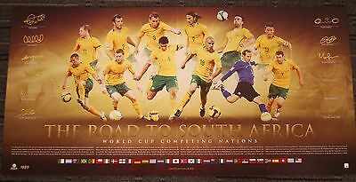 AUSTRALIAN SOCCEROOS LIMITED EDITION WORLD CUP SIGNED PRINT KEWELL CAHILL NEIL