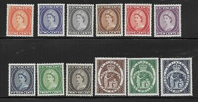 St. Vincent #186-197 MNH OG Elizabeth ll & Seal of Colony (Q11)