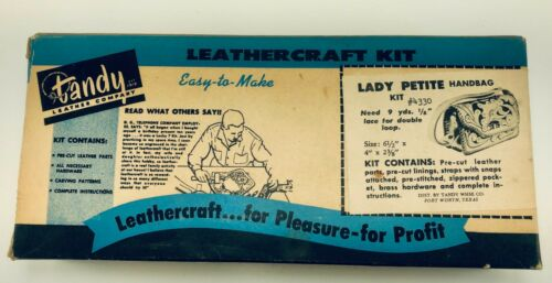 TANDY Leather Craft Kit - Lady Petite Handbag / Purse DIY NOS
