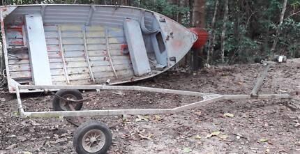 3.7m Stessl aluminium motorboat with trailer and motor
