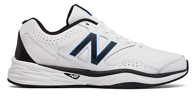 New Balance Men's 824v1 Shoes White with Black & Blue