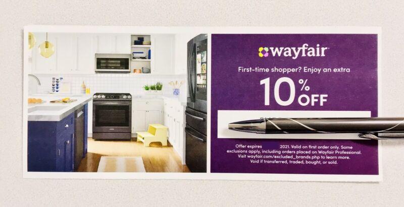 WAYFAIR 10% Off Your First Order Coupon Code Exp 6/14/21