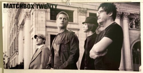 "RARE Matchbox Twenty - Exile On Mainstream 2-sided 12""x24"" PROMO POSTER VG COND"