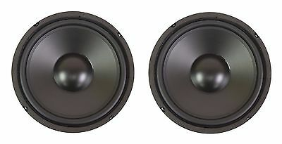 """NEW PAIR (2) 10"""" Inch Bass Elegance Replacement Subwoofer Woofer Speaker 8 Ohm"""