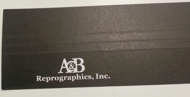 "24"" *CUSTOM* Print Binding Strips Matte Black-1 CASE-NEW-Blueprints, Plans"