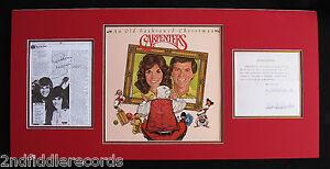 THE-CARPENTERS-Rare-Signed-Contract-Album-Display-by-RICHARD-KAREN-CARPENTER
