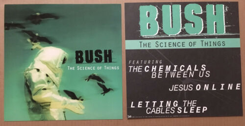 Gavin Rossdale BUSH Rare 1999 SET 2 DOUBLE SIDED PROMO POSTER FLAT 4 Science CD
