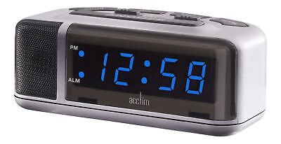 SpecialOffer Acctim Excelsior Mains/ Electric Loud Alarm Clock Blue LED Display