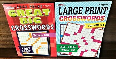 Lot 2 Large Print Crossword Puzzle Books Vols.108/114 by Kappa, Brand New!