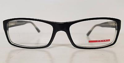Men's Designer PRADA SPORT Plastic Rxable Frames MOD VPS11A Black Made in Italy