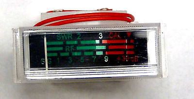 CB Radio S-Meter with Light - 3 stripes for power, SWR and S