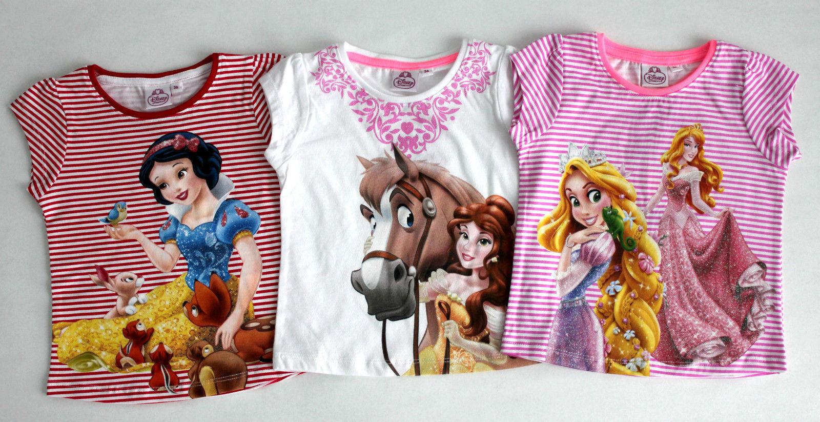 Disney Princess Mädchen KinderT-Shirt Gr.98-116 Shirt kurzarm  Pullover neu!