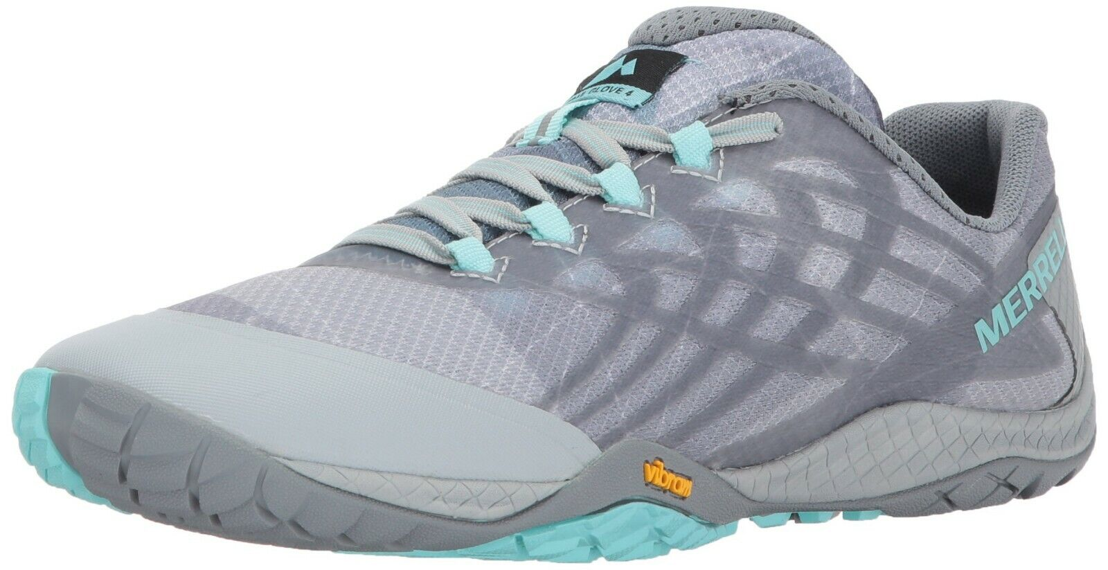 MERRELL J09662 Womens Trail Glove 4 High Rise Gray Shoes US