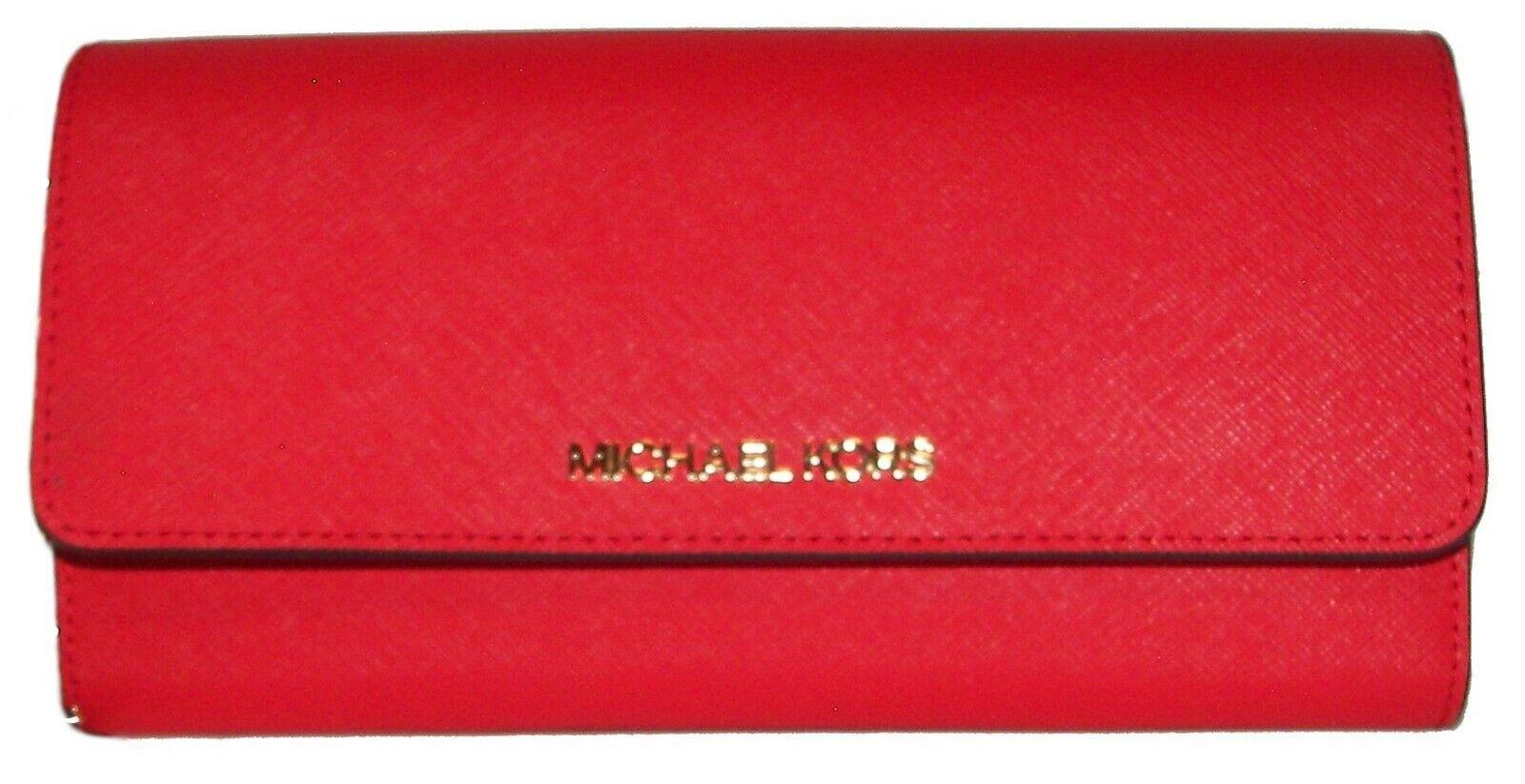 MICHAEL KORS Dark Sangria Flap Clutch Wallet Purse Crossbody NWT