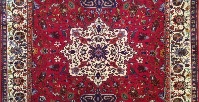 Tremendous Turkish - 1960s Antique Oriental Rug - Floral Carpet - 7.6 X 10.7 Ft.