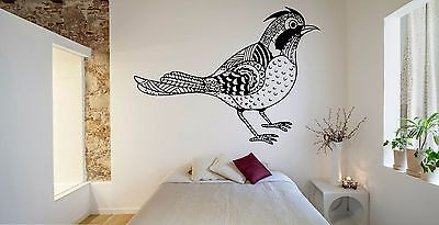 Wall Room Decor Art Vinyl Sticker Mural Decal Zentangle Bird Relaxation FI1059