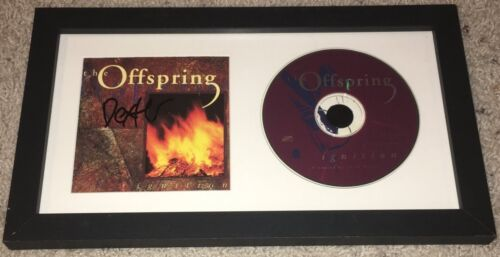 DEXTER HOLLAND SIGNED AUTOGRAPH THE OFFSPRING IGNITION FRAMED CD w/EXACT PROOF