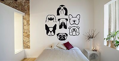 Wall Room Decor Art Vinyl Sticker Mural Decal Types Of Dog Breeds Animal FI140