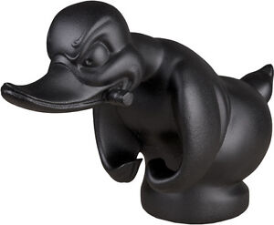 Flat Black Death Proof Duck Convoy Duck Hood Ornament Car Mascot Rat Rot Hot Rod