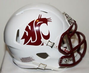 2017 Washington State Cougars Custom Riddell Mini Helmet vs Arizona