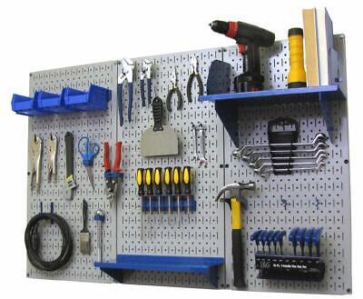 4 Metal Pegboard Organizer Standard Tool Storage Kit Garage Tool Peg Board