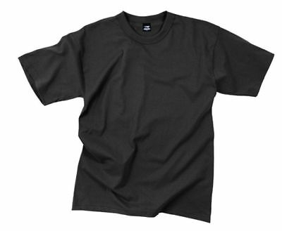 Black Solid Color T-Shirt Polyester/Cotton Rothco 6670 (Solid Color Polyester)