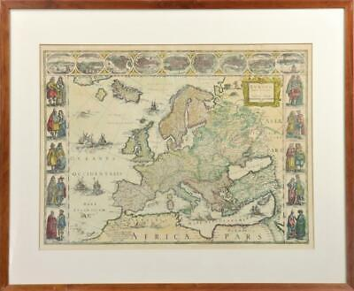 24x30 1680 Early Wall Map of Greater Russia