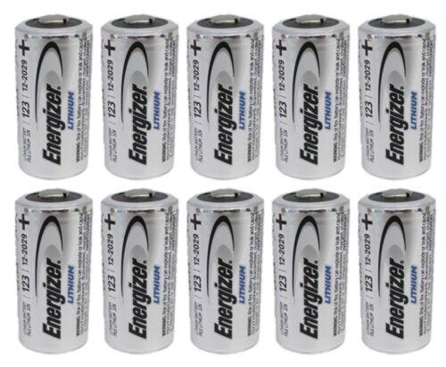 12 CR123 Energizer 3V Lithium Batteries (CR123A, DL123, EL123, CR17345) EXP 2030