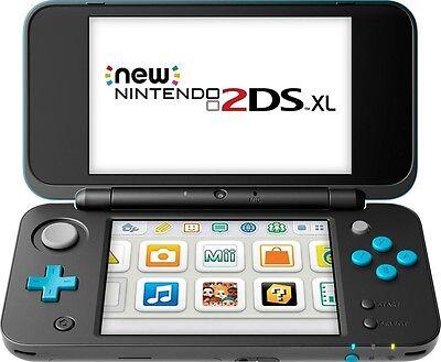 Custom Nintendo 2Ds Xl Black Turquoise 28 Games Gifts Bundle Mario Zelda Pokemon
