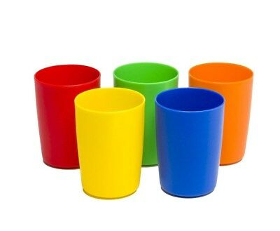 Greenco Set of 5 Unbreakable Reusable Plastic Kids Cups, Assorted Colors, 5 oz.	](Color Plastic Cups)