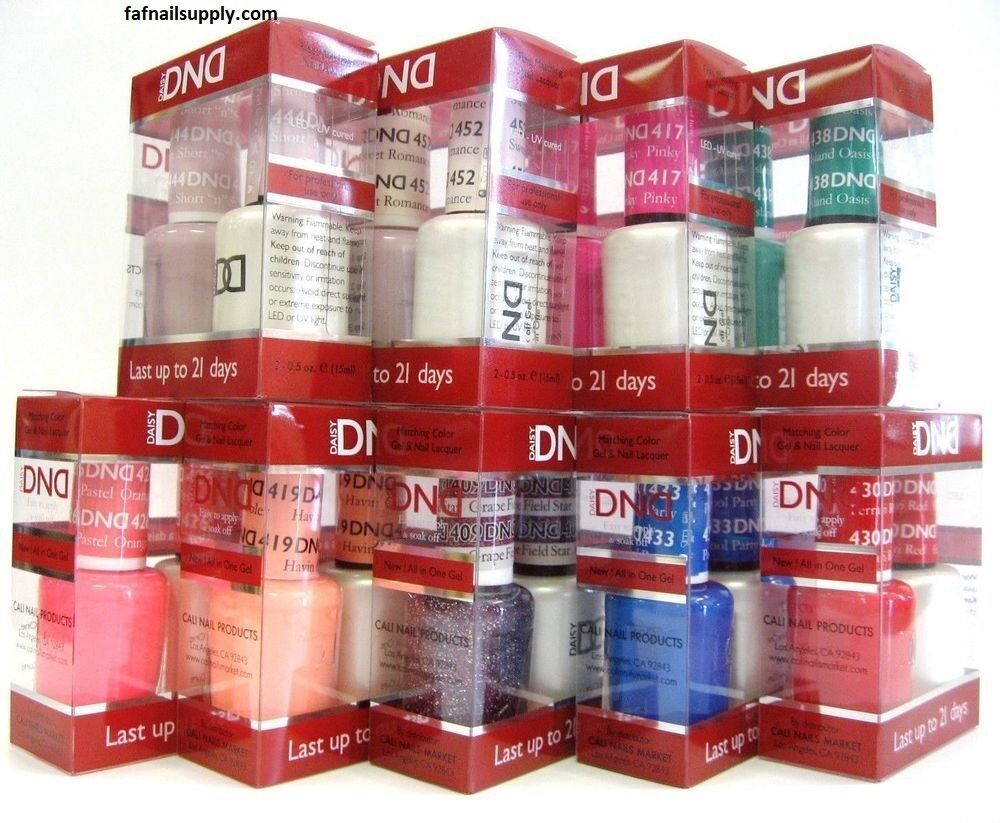 Daisy DND Duo Gel Polish MATCHING Nail Polish Set 1-3 days d