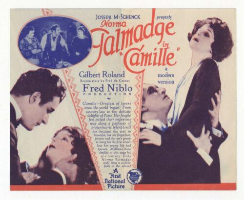 CAMILLE - Vintage 1926 NORMA TALMADGE Silent Film MOVIE HERALD Gilbert Roland