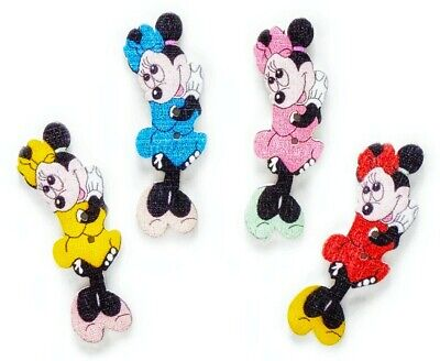 10PC Minnie Mouse Wood Buttons 1.54