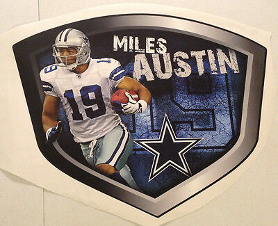 """Miles Austin FATHEAD Player Shield Graphic 23"""" x 18"""" NFL Official Wall Decal"""