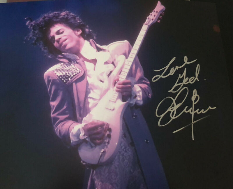 Prince 8 x 10 photo with COA Hand Signed Authentic Autograph Signature