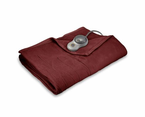 fleece soft quilted electric heated blanket full