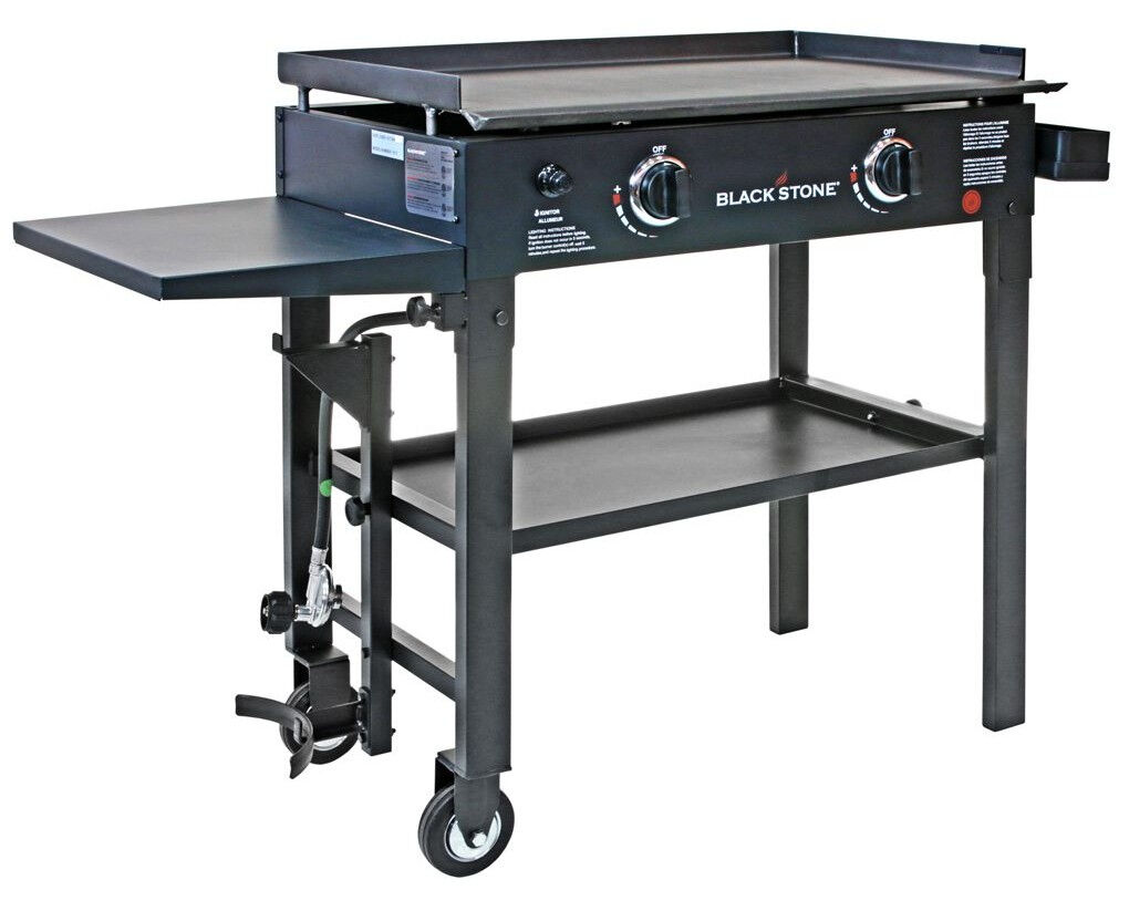 Blackstone 28 inch Outdoor Gallop Top Gas Grill Griddle Station - 2-burner BBQ NEW