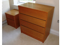 Chest of Drawers with matching bedside drawer unit