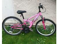 Girls 18 speed Hybrid Mountain Bike - Full Suspension