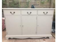 Hand Painted Light Grey Sideboard