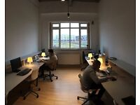 Hackney studio office (8 person) PLUS private meeting room ATTACHED and an AMAZING view