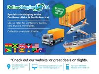 Shipping to the Caribbean, Barrels, vehicles and Containers. Door to door service available.