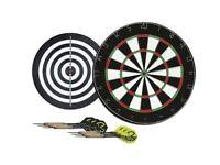 NEW Michael Van Gerwen Flock Dart Board Double-sided 2 sets of darts Indoor 18 Inch KT1 3NL