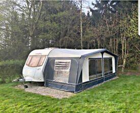 amara coachman 4berth caravan with awning