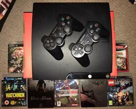 PS 3 - 2 CONTROLLERS AND 7 GAMES