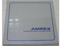 """Ampex 1/4"""" virgin tape in sealed boxes"""