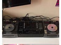Denon dns 1000 cd decks and pioneer djm 300 mixer cd decks
