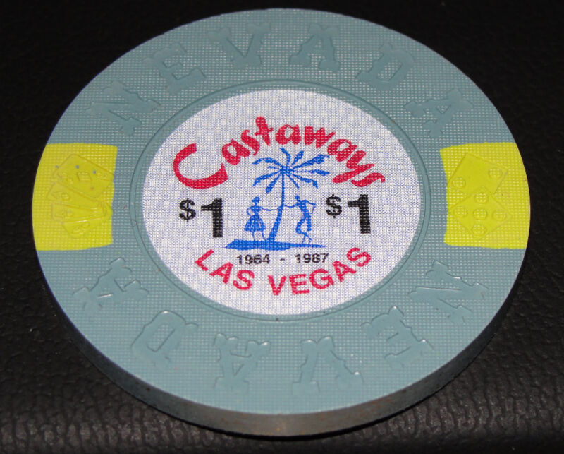 CASTAWAYS 1964-1987 $1 LAS VEGAS BORLAND CASINO CHIPS