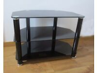 Black glass, TV table