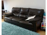 Leather Sofa Suite, Great Condition, 3 + 2 +2 Seater